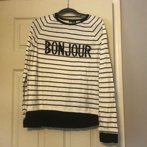 The Limited Bonjour striped sweater